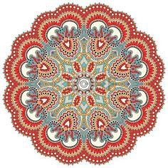 mandala tatoo: Ornement de fleurs Cercle, dessin ornemental de dentelle ronde