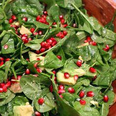 Spinach, Avocado, Pomegranate Salad with Warm Vinaigrette Recipe on Food52 recipe on Food52