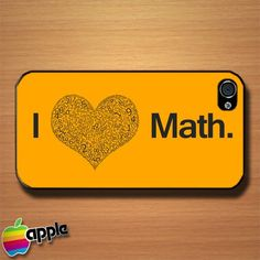 I Love Math And Numbers Custom iPhone 4 or 4S Case Cover