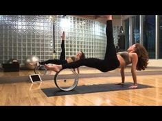 Yoga dharma wheel core and glute butt workout - YouTube