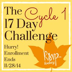 LAST CALL: The C1 Challenge starts 12/3 and TONIGHT is the last day to sign up: http://17ddblog.com/challenge-2014/?tid=pin112814secondpin