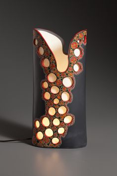 Sasha Bakaric Ceramic Lamp - another good example for lamp project ideas.