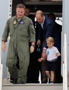 Catherine Duchess of Cambridge Prince William Duke of Cambridge and Prince George during a visit to the Royal International Air Tattoo at RAF...