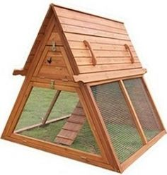While chicken coops such as the one at the left are nice looking and very functional, you might prefer to use DIY chicken coops plans and build...