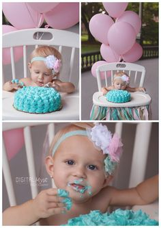 Emerie celebrates her first birthday in pretty pink and teal with Tampa Photographer DigitalMyst Photography. Tutu baby first birthday ideas. Princess photo shoot. First birthday photo session. Photography for birthday. Photos for 1st birthday. 1st birthday smash cake. Smash cake ideas. Smash cake photography. Princess tutu birthday poses. Girly party. Birthday girl posing. Toddler girl birthday ideas. Toddler photo ideas. For more www.digitalmystphotography.com your Tampa 1st Birthday…
