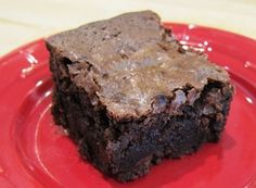 Gluten Free Mama's Basic Brownies - ADORE them. Recipe & how to video: http://www.gfreefoodie.com/recipes/detail/761/