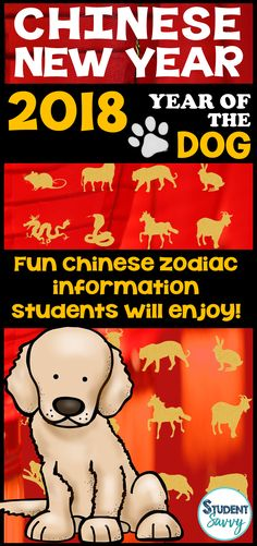 Chinese New Year 2018 Activities - Year of the Dog! – Student Savvy