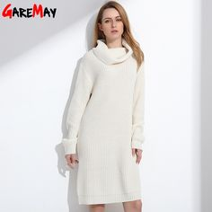 Women Long Sweater Turtleneck Young Ladies Fashion Autumn Winter Retro Pullover Thick Knit Sweater For Women Knitwear GAREMAY-in Pullovers from Women's Clothing & Accessories on Aliexpress.com | Alibaba Group