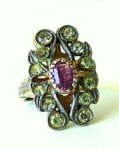 Anello antico fine anni '20  anello stile bohemien by PittiVintage