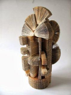 Book Art - Made by Keri Muller Altered Books, Altered Art, Book Crafts, Paper Crafts, Book Sculpture, Paper Sculptures, Book Wall, Book Folding Patterns, Folded Book Art