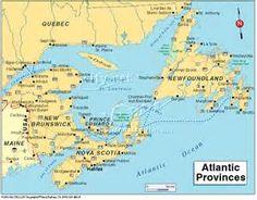 map of east coast canada