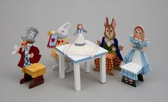 Handpainted Alice in Wonderland Nursery Chairs with Table