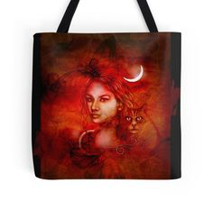 'The Witching Hour' Tote Bag by DarkForgeStudio Large Bags, Small Bags, Medium Bags, Cotton Tote Bags, Are You The One, Supernatural, Horror, Sci Fi, My Arts
