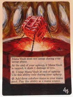 MTG Magic MANA VAULT Hand Painted OOAK Altered Art Card #WizardsoftheCoast Hand Painted Altered Art OOAK Magic: The Gathering Cards By Glendora Very Nice Details, Great Quality, Paint Is Not Too Thick On Cards! Great Seller That Offers Customization And Commissions!