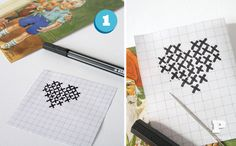 cross stitch post cards