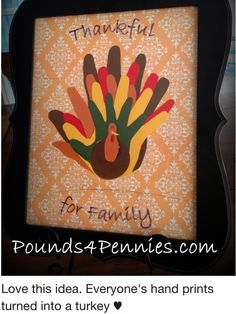 Canvas Turkey Hands
