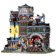 Lemax Spooky Town Collection Grinning Goblin Brewery, With 4.5V Adapter