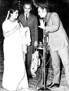With Asha Bhosle.