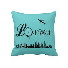 London Eye City Theme Pillow Cushions   This London Eye City Theme Pillow Cushions are just the thing for 2012 being The Queens Diamond Jubilee & The Olympics in London. Great Look for a modern room.