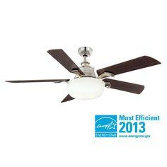 $229  Hampton Bay Winfield 54 in. Liquid Nickel Ceiling Fan-AG804-LN at The Home Depot