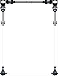 Art Deco Borders Clip Art | Viewing Gallery For - Art Deco Frame Clip Art