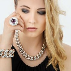 Armband 105036/35, Ring U5011, Collier 115037/22 - Silber 925,- Henrich Schmuck