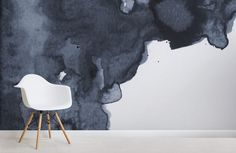 Style a rich space with this navy blue watercolour wallpaper, a deep blue smoke design, perfect for your feature wall. Teal Watercolor Wallpaper, Watercolor Clouds, Smoke Wallpaper, Navy Wallpaper, World Map Wallpaper, Watercolor Design, Wallpaper Murals, Wallpaper Ideas, Rauch Tapete