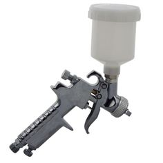 Mini HVLP Smart Repair Gravity Spray Gun 0.8mm For Solvent or Water Based Paint