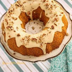 A moist, pumpkin spice cake that mixes in one bowl and is complimented perfectly…