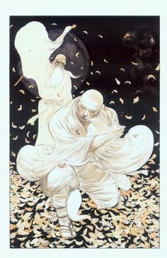 "Yoshitaka Amano illustration from Neal Gaiman's ""The Dream Hunters. Art And Illustration, Illustrations, Fantasy Kunst, Fantasy Art, Yoshitaka Amano, Gustave Dore, Art Asiatique, Art Japonais, Japanese Artists"