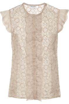 Valentino's beautifully embroidered organza top Valentino, Organza, Blazers, Shabby Chic, Beautiful Outfits, Dress Up, Style Inspiration, My Style, Clothes