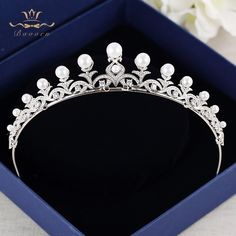 Cheap wedding hair jewelry, Buy Quality hair jewelry directly from China crystal crown Suppliers: Bavoen Top Quality Brides Nature Pearls Hairbands Evening Silver Zircon Crystal Crown Tiara Wedding Hair Jewelry Head Jewelry, Royal Jewelry, Hair Accessories For Women, Wedding Accessories, Crown Aesthetic, Princess Jewelry, Hair Decorations, Crystal Crown, Bespoke Jewellery