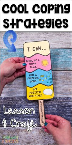 Teach coping strategies with a fun and interactive ice pop craft! Kids learn about coping strategies and then create their own pop that illustrates the strategies they want to try. Perfect for small groups to teach skills to manage emotions. Coping Skills Activities, Counseling Activities, Art Therapy Activities, Play Therapy, Speech Therapy, Career Counseling, Time Activities, Therapy Ideas, Elementary School Counseling