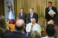 Pape François - Pope Francis - Papa Francesco - Papa Francisco : sept 2014 – rencontre avec l'association argentine « Scholas Occurentes »