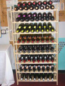 GE Lumber 120 Bottle Rustikálne Wood Wine Rack