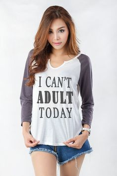 Adult today T Shirt Cute Teen Shirts Funny Christmas Gifts Idea Fashion Blogger Teenagers Teens Girl Girlfriend Gift  DESIGN: I cant Adult today