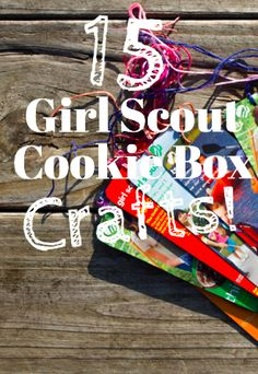 15 Girl Scout Cookie Box Crafts for use resources wisely
