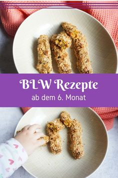 Fingerfood für Babys – unsere Sammlung leckerer Rezepte Baby-led weaning recipes: finger food always fits, delicious vegetable croquettes that are easy and quick to make. Baby Led Weaning, Fingerfood Baby, Baby Finger Foods, Yummy Food, Tasty, Delicious Recipes, Evening Meals, Food Items, Stuffed Peppers