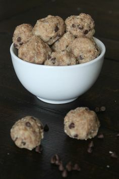 Healthy Cookie Dough Balls - Love and Bellinis