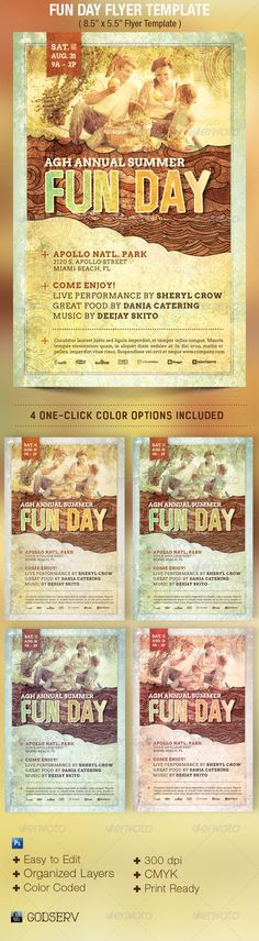 Fun Day Event Flyer Template - $6.00