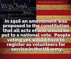 Let's bring this amendment into play, I wonder how many GOP & the 1% would register as volunteers? ZERO, their kind never goes to war. Can you say Deferment?  I knew you could!