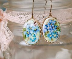 hand painted porcelain brooch,buttons - Google Search
