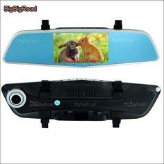 79.48$  Buy now - http://aligdk.shopchina.info/1/go.php?t=32704118848 - BigBigRoad For skoda fabia Car DVR Rearview Mirror Video Recorder night vision Dual Camera Novatek 96655 5 inch IPS Screen  #aliexpress