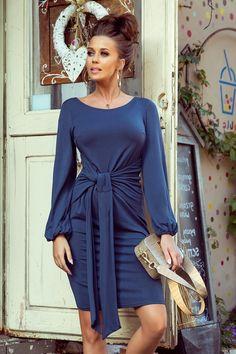 Haine office dama PrettyModa.ro Women's Fashion Dresses, Sexy Dresses, Nice Dresses, Jeans Dress, Tie Dress, Mini Dress With Sleeves, Shangri La, Leather Bags, Spandex