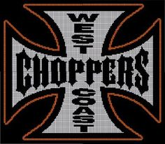 WEST COAST CHOPPERS - AA25 via Loopaghans Custom Crochet. Click on the image to see more!
