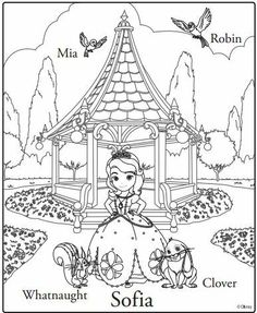 sofia the first coloring page clover whatnaught mia robin disney junior princess