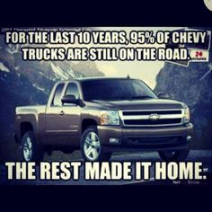 Poor Chevy, only 5% make it back to their garage!