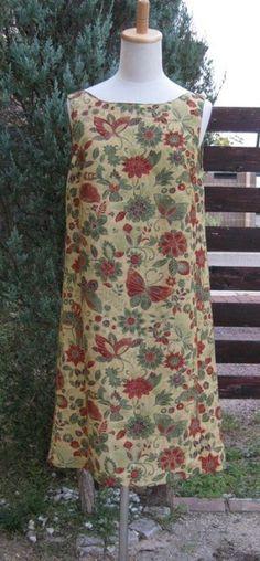 着物リメイクワンピ-ス/山吹色 | iichi(いいち)| ハンドメイド・クラフト・手仕事品の販売・購入