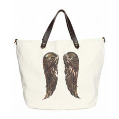 Berenice Bag Paillet Wings Off White ($170) ❤ liked on Polyvore