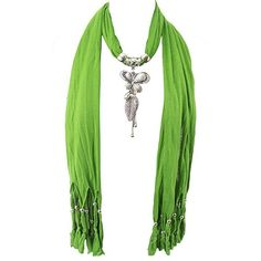 GFM Jewelled Scarf: (#1-55)(Green)(Butterfly with Leaf & Diamante... ($13) ❤ liked on Polyvore featuring accessories, scarves, green scarves, tassel scarves, butterfly scarves, butterfly shawl and green shawl